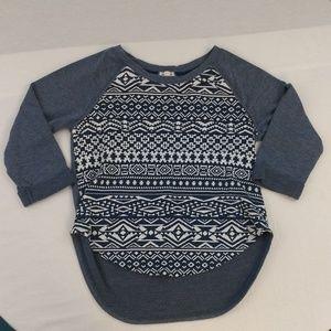 Eyeshadow Tribal Print Sweatshirt Size Small